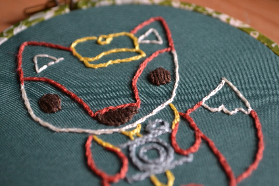 Hand Embroidered Hipster Photographer Fox
